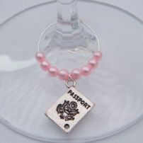 Passport Wine Glass Charms
